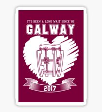 All Ireland Hurling Champions: Galway (Maroon/White) Sticker