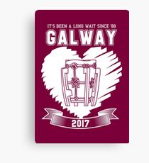 All Ireland Hurling Champions: Galway (Maroon/White) Canvas Print