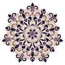 Purple Tan Mandala by WelshPixie