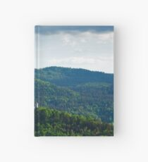 Afternoon light over church Hardcover Journal