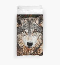 WOLF GRAY - GRAY WOLF - LOUP GRAY Duvet Cover