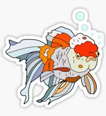 Lion Head Goldfish - Pink Sticker