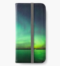 Northern lights over lake iPhone Wallet/Case/Skin