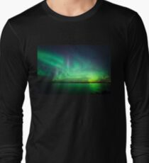 Northern lights over lake T-Shirt