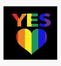 yes vote in marriage equality Photographic Print
