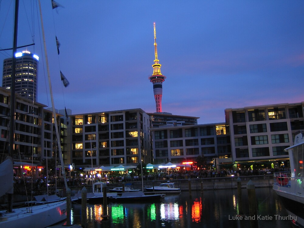 Auckland City at Dusk by Luke and Katie Thurlby