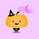 «Calabaza de Halloween en traje de bruja» de EuGeniaArt