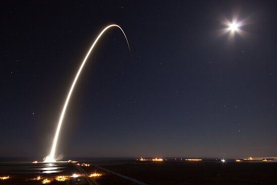 SpaceX-Start in der Nacht von Boy-With-Hat