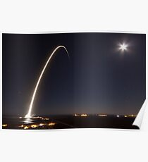 SpaceX Launch at night Poster