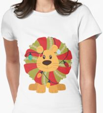 Your Big Cat in Decorative Christmas Wreath T-Shirt