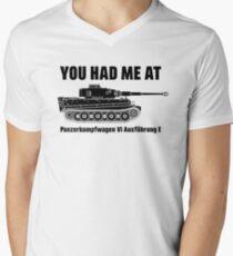 Camiseta para hombre de cuello en v Me tienes en - Panzerkampfwagen VI Ausführung E - Tiger