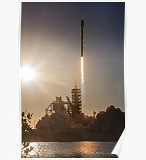 SpaceX Raketenstart Poster