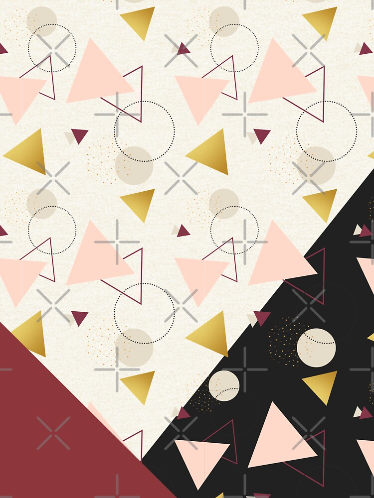 Triangles Mix #redbubble #decor #buyart by designdn