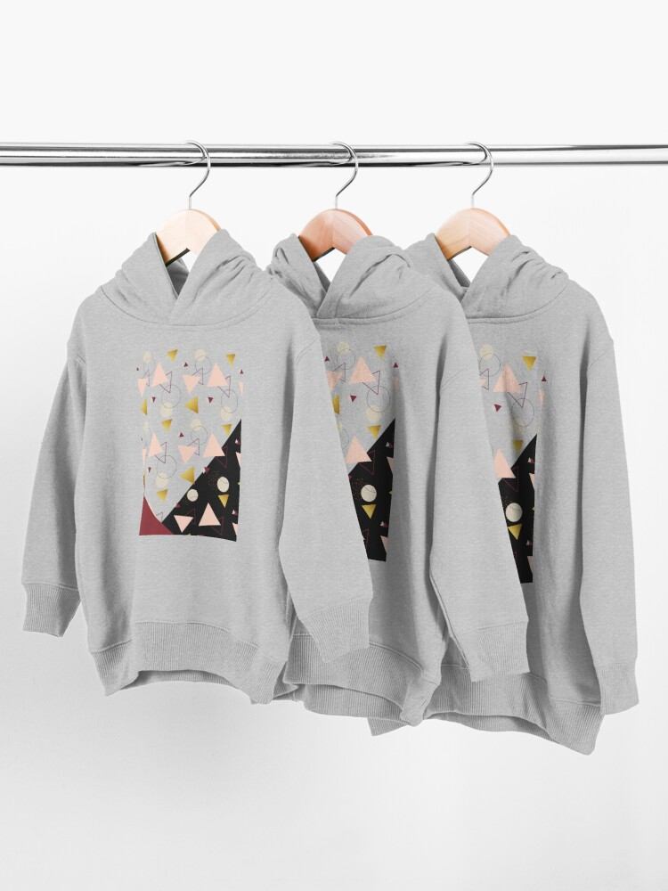 Alternate view of Triangles Mix #redbubble #decor #buyart Toddler Pullover Hoodie