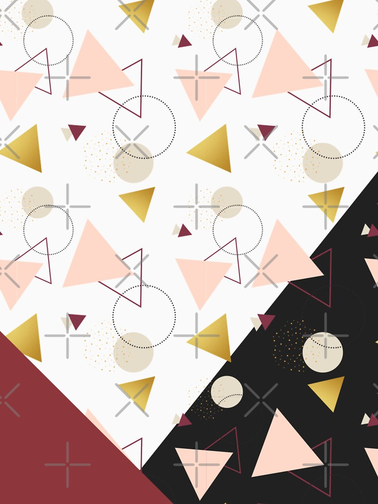 Triangles Mix #redbubble #decor #buyart by designdn