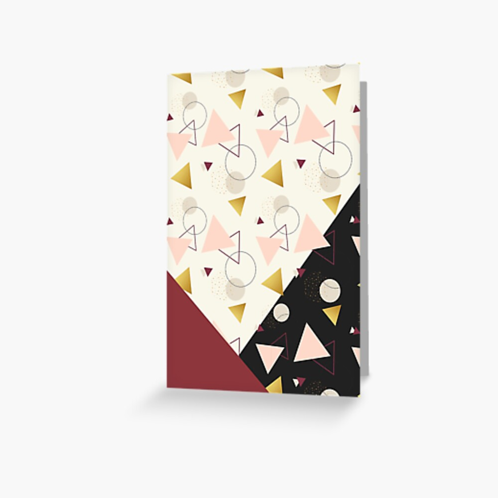 Triangles Mix #redbubble #decor #buyart Greeting Card