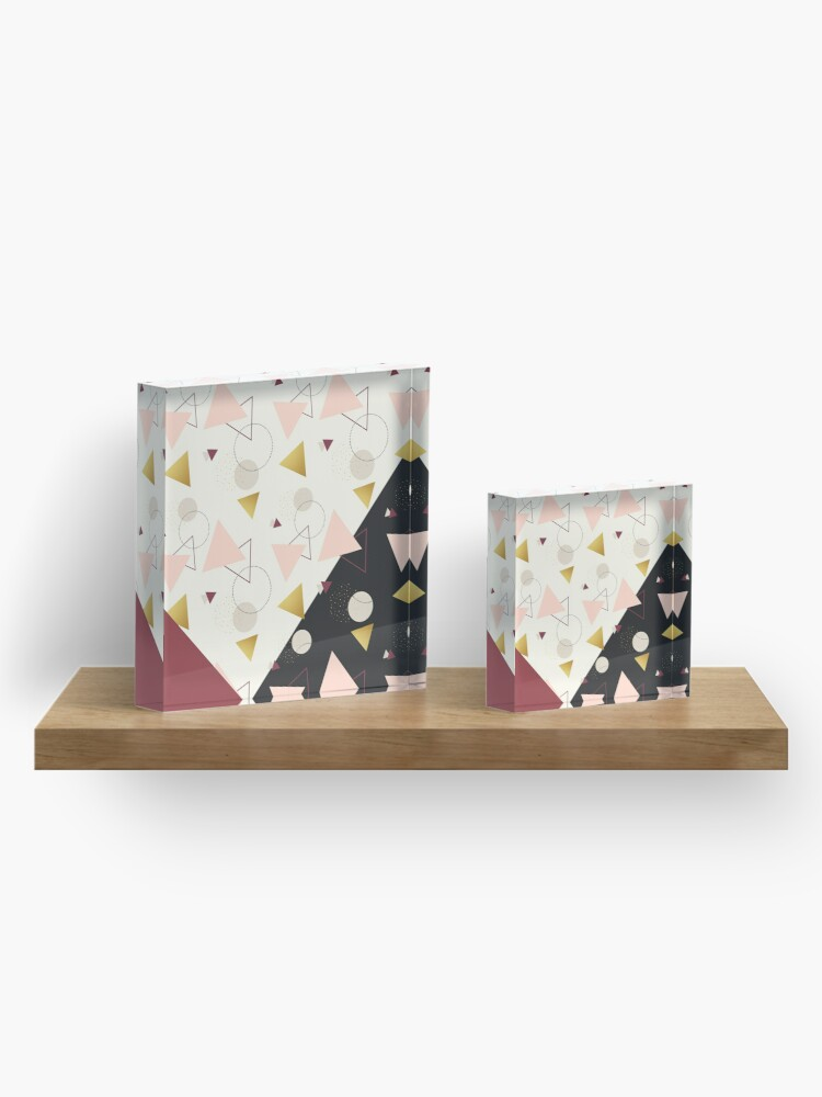 Alternate view of Triangles Mix #redbubble #decor #buyart Acrylic Block