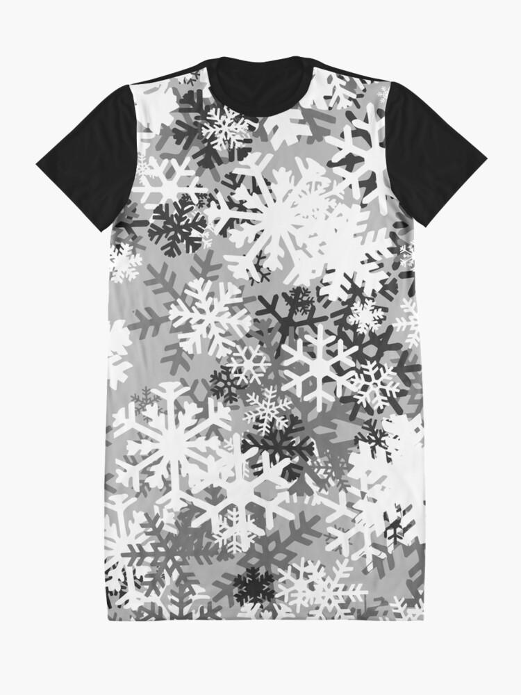 Alternate view of Snowflake Camo Graphic T-Shirt Dress
