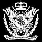 « muse knights of cydonia heraldic white » par clad63