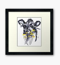 No worries - cow painting Framed Print