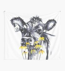 Tela decorativa Sin preocupaciones - pintura de vaca