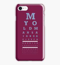 Eye Chart - Aston Villa FC - My Old Man Said iPhone Case/Skin