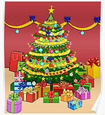 Presents under Christmas Tree Poster