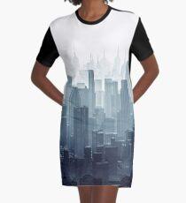 City Haze Graphic T-Shirt Dress