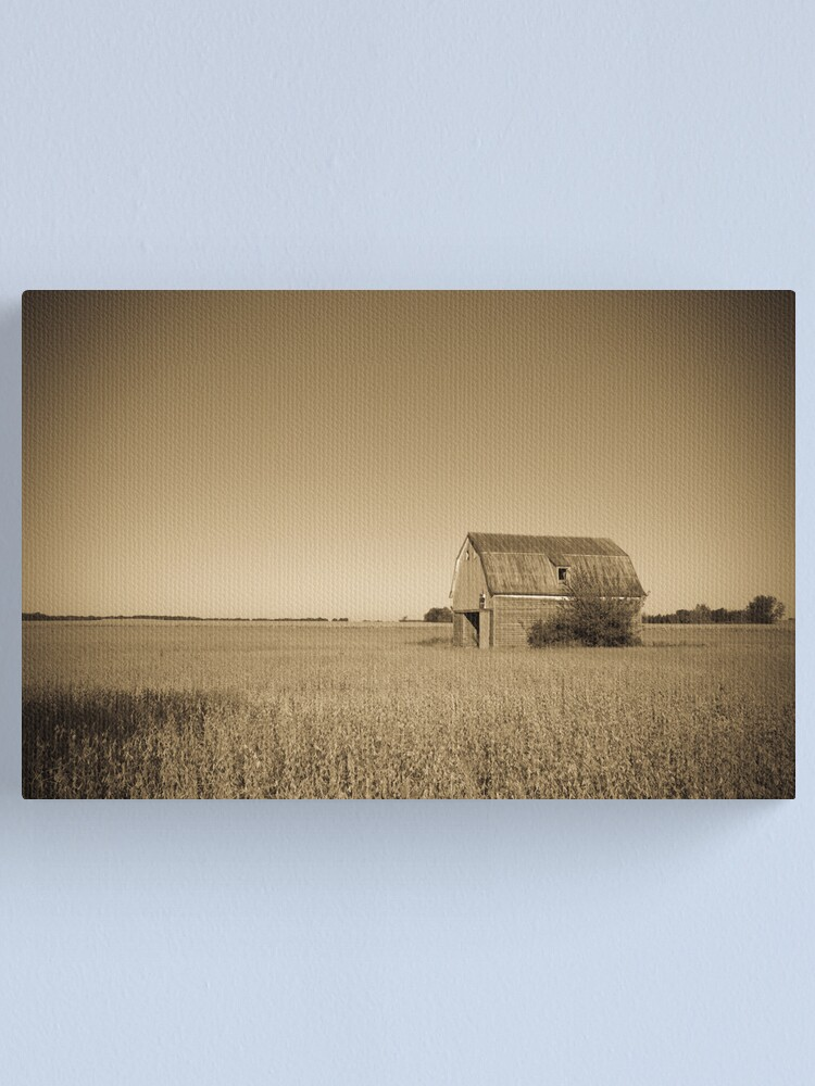 Alternate view of Barn beside old Route 66. Odell. Illinois. Canvas Print