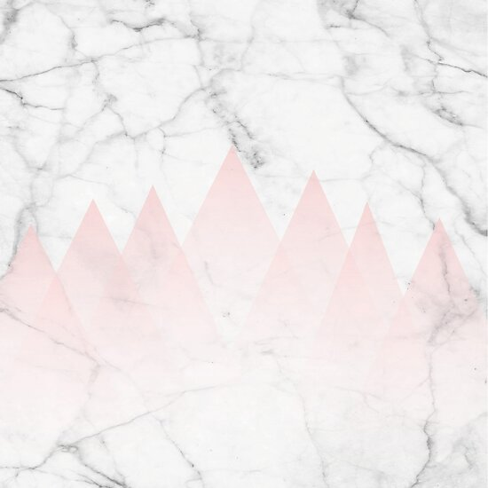 Quot White Marble Background Pink Abstract Triangle Mountains
