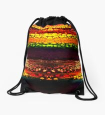 Neon Layer Cell Formation - 1 Drawstring Bag
