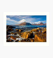 The Cuillins from Elgol, Isle of Skye, Scotland. Art Print