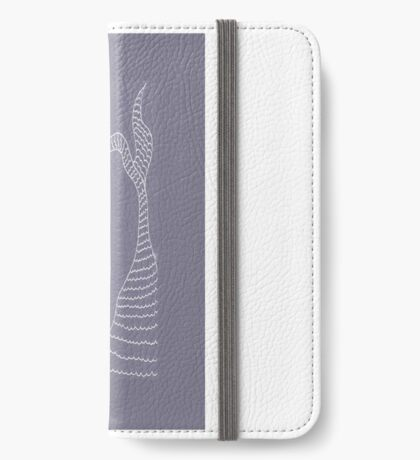Purple Plant iPhone Wallet