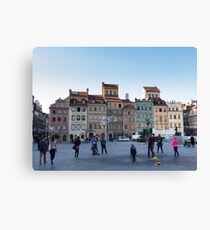 Old town bubbles - Warsaw Poland Canvas Print