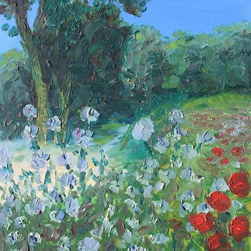 Chicory and poppies. Oil on canvas. 2015 by anatolkin