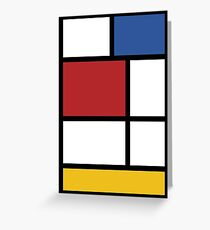 Mondrian #3 Greeting Card