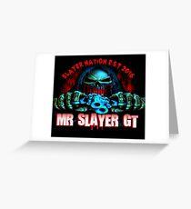 Mr Slayer GT Logo  Greeting Card