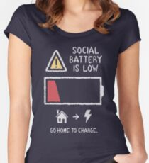 Low Social Battery Fitted Scoop T-Shirt