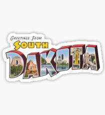 Greetings from South Dakota 1 Sticker