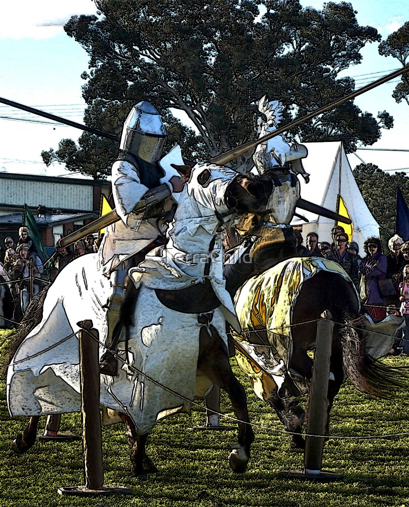 Jousting Knights by TerraChild
