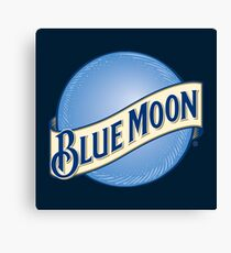 Blue Moon Beer Canvas Print