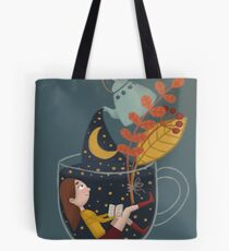 Eine Tasse Sternenhimmel Tote Bag