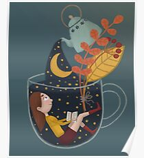 A cup of star sky  Poster