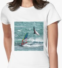 Windsurfing, Cottesloe Beach, Perth Women's Fitted T-Shirt