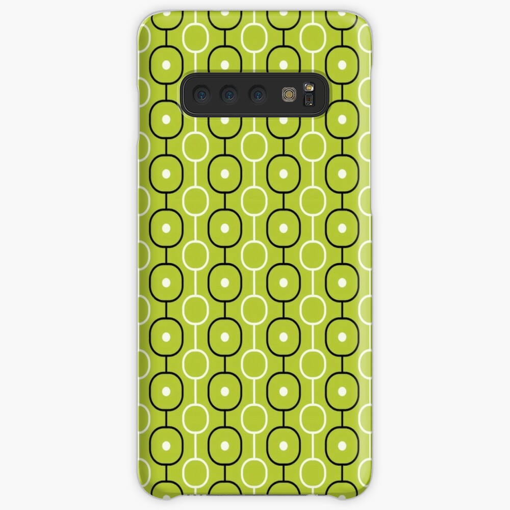 Geometric Pattern: Circle Chain: Lime/Black Samsung Galaxy Snap Case