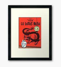 Tintin Lotus Bleu  Framed Print