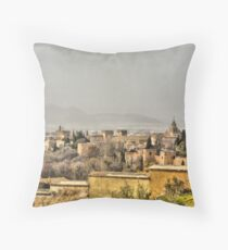 ALHAMBRA PALACE, GRANADA, SPAIN Throw Pillow