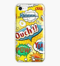 Funny Speech Bubbles 7 iPhone Case/Skin