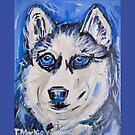 Snow Dog by TraceyMackieArt