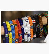 Coloured Bracelets Poster